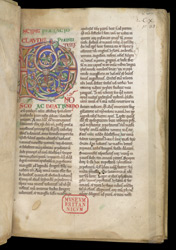Illuminated Initial, In Claudius of Turin's Commentary On the Gospel Of St. Matthew f.1r